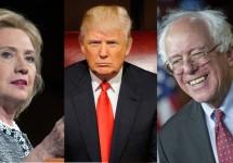 Clinton-Trump-Sanders
